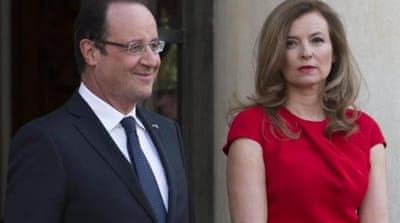 Hollande and Trierweiler are not married but have been in a long-term relationship for several years [AP]