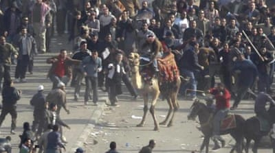 The Battle of the Camel was a pivotal moment in Egypt's 2011 uprising [AP]