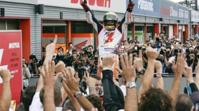Marquez took an unassailable lead in the championship after the second-place finish [EPA]