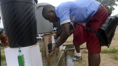 Nigerians took the threat seriously with officials encouraging improved sanitation and basic hygiene [AFP]