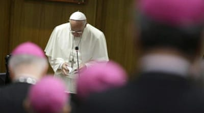 Pope Francis encouraged the bishops in the synod to speak openly, writes Walsh [AP]