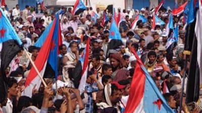 Al-Hirak supporters believe the Houthi takeover presents an opportunity for secession [Reuters]
