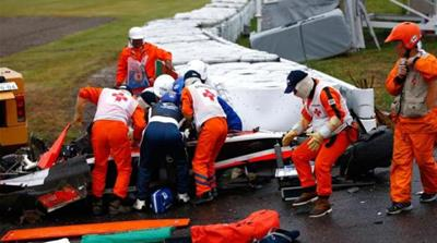Bianchi was rushed to the hospital following the crash [Getty Images]