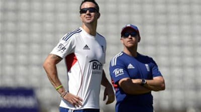 Flower (right) was a 'mood hover', according to Pietersen [REUTERS]