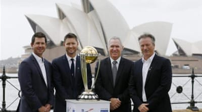 Australia marked the 100-day countdown to the 2015 World Cup in Sydney [REUTERS]