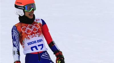 Vanessa Mae finished last among 67 races in the two-run giant slalom [AFP]