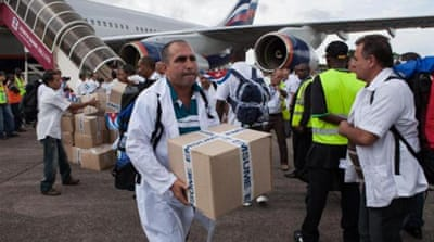 Cuba has won global praise for sending at least 256 medical workers to Sierra Leone, Liberia and Guinea [AFP]