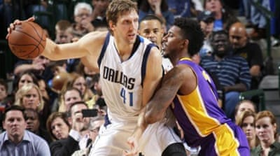 Nowitzki's feat helped Dallas win six in a row for the first time since 2012 [Getty Images]