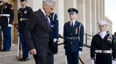 Hagel was an obvious choice to take the fall, writes Korb [AP]