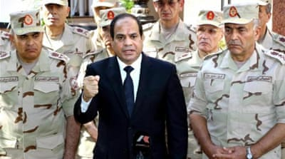 Egypt has a serious insurgency under way, writes Dunne [EPA]