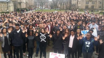 #HandsUpWalkOut: Students across US join Ferguson strike