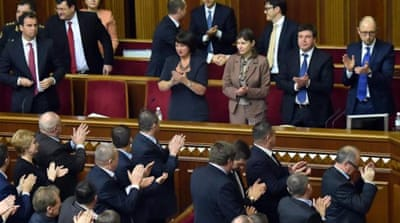 Ukraine appoints three non-native ministers