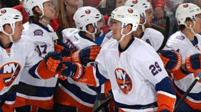 The Islanders' Nelson (#29) scored and had an assist in his side's win [Getty Images]