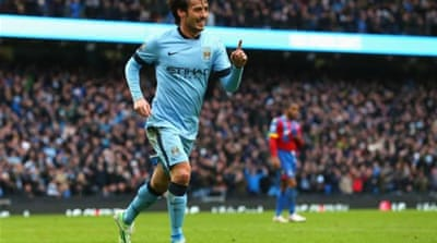 Silva scored two second-half goals to put City on track [Getty Images]