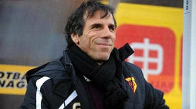 Zola's new side currently sits 18th in the league [Getty Images]