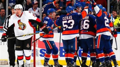 Hickey's effort helped the Islanders seal their eighth overtime win of the season [Getty Images]