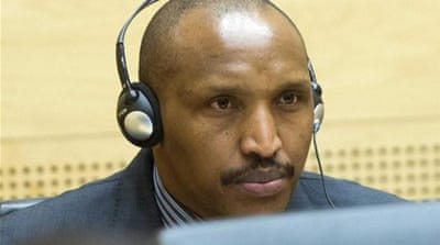 Bosco 'the Terminator' Ntaganda handed himself in to the US embassy in Kigali last March [EPA]