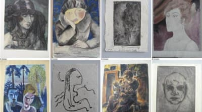 The paintings, drawings and sculptures have a total estimated value of 1 billion euros [Reuters]