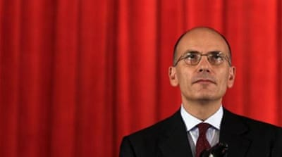 Enrico Letta took over from the outgoing technocrat prime minister Mario Monti in April, 2013 [EPA]