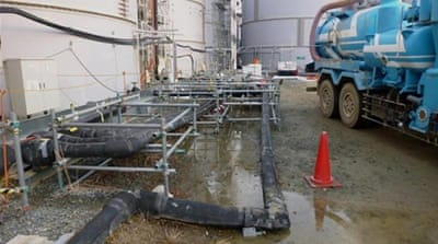 Radioactive water leak at Fukushima plant