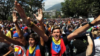 Venezuela students call for change