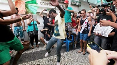 The initial series of rolezinhos in Sao Paulo's malls were not political in character [Getty Images]