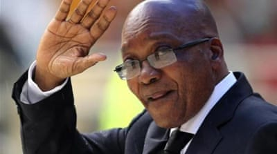 Zuma's ANC is expected to win the vote, although anger is mounting against the ruling party [Reuters]