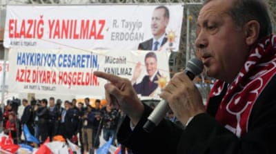 Erdogan has faced stiff opposition over his controversial internet laws [AFP]