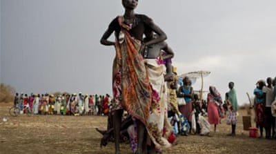 More than 215,000 people have been displaced from their homes in Darfur since January [EPA]