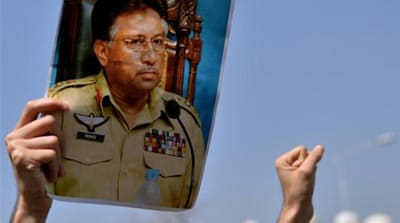 General Pervez Musharraf was indicted on five counts, including treason [AFP]