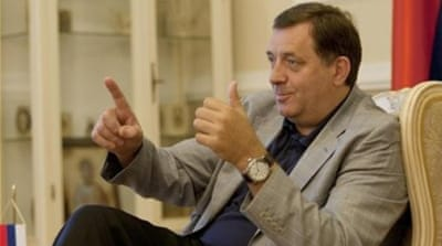 Republika Srpska's President Milorad Dodik has expressed his support for the secession of Crimea from Ukraine [AP]