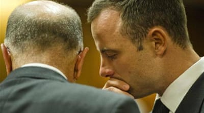 Pistorius's former girlfriend also told the court of other incidents in which he drew his gun [AP]