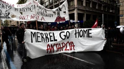 Celebrating the debris of Greek democracy