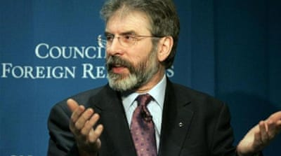 Sinn Fein's Gerry Adams remains in custody