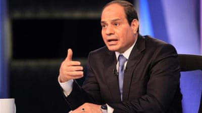 Sisi's recent TV interview provoked a social media storm [AFP/Getty Images]
