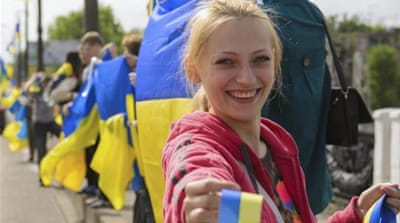 Educated, middle-class Russian-speaking Ukrainians tend to support united Ukraine, writes Ragozin [EPA]