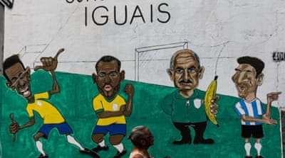 Outrage at the cost of the World Cup drove about a million Brazilians to the streets in protest last year [EPA]