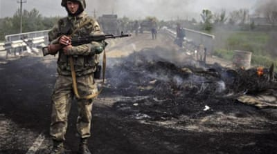 Ukraine's Western-backed government accuses Russia of fomenting the rebellion [EPA]