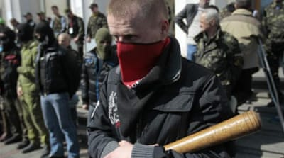 Right Sector and Svboda, two right-wing organisations, have gathered support in western Ukraine [Getty]