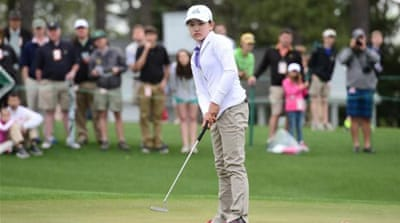 Li won her age group at Augusta National's inaugural Drive, Chip and Putt Championship last month [AFP]