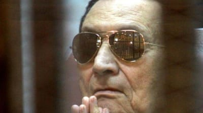 Mubarak currently resides in a military hospital in an upscale neighbourhood in the capital [AP]