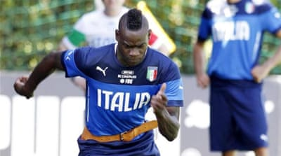 Balotelli was racially abused at Italy's training camp [AP]