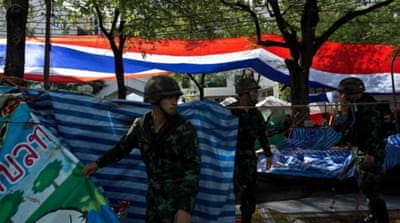 The Thai military has cleared protest camps in Bangkok [Getty Images]