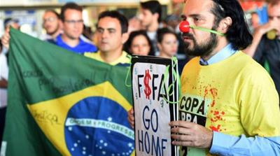 On May 15 anti-government protests were held across Brazil [AFP/Getty Images]