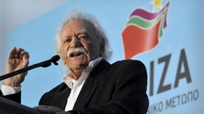 Anti-fascist resistance hero Manolis Glezos won a seat in the European Parliament with left-wing SYRIZA party [AFP]