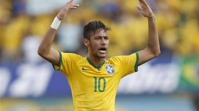 Brazil's hopes rest with Neymar, the 22-year old Barcelona forward [AP]