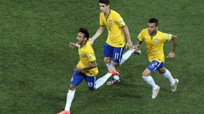 Neymar has scored six goals in his last four matches for Brazil [AP]