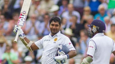 This was Sangakkara's 36th Test century [AFP]
