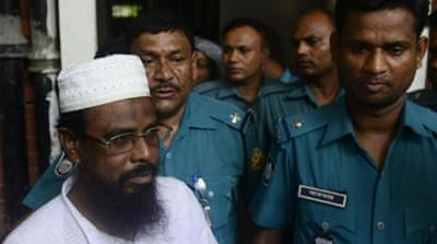 Harkat-ul Jihad al Islami leader Mufti Abdul Hannan (right) was among the accused [AFP]