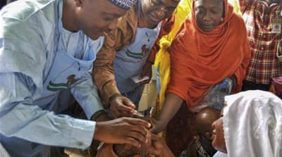 The Nigeria strain of polio has been found in Somalia, Ethiopia and Kenya [EPA]